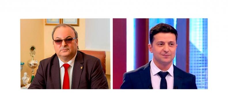 Президент НКАУ Ашот Аванесян поздравил новоизбранного Президента Украины Владимира Зеленского